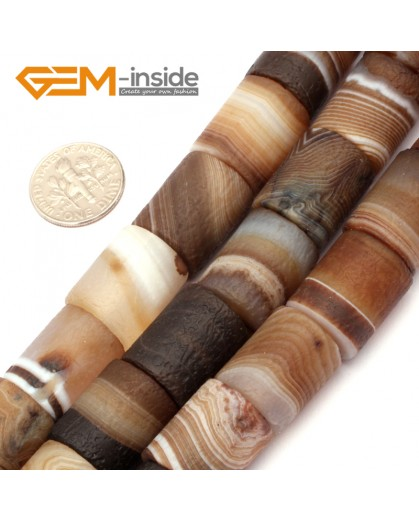 "G9303 14x18mm Frost Column Botswana Agate Beads 15"" Jewelry Making Loose Beads Free Shipping Natural Stone Beads for Jewelry Making Wholesale"