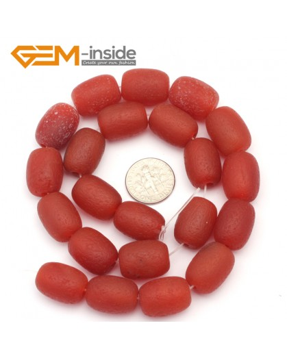 G9315 13x18mm/Frosted/Red Column Agate Beads Jewelry Making Gemstone Beads Free Shipping Natural Stone Beads for Jewelry Making Wholesale