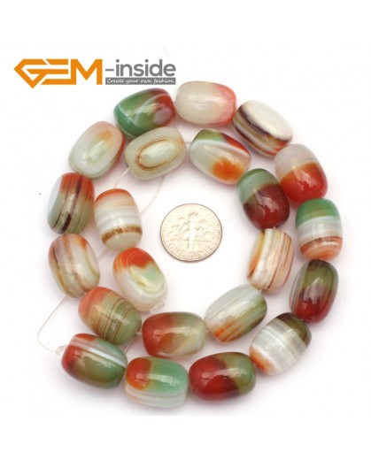 G9325 13x18mm/Smooth/Multi-color Column Agate Beads Jewelry Making Gemstone Beads Free Shipping Natural Stone Beads for Jewelry Making Wholesale