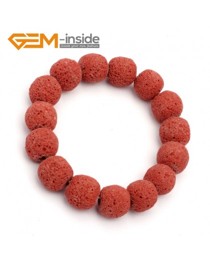 "G9751 Dark Red Lava Rock Handmade Beads Bracelet Stretch Adjustable Bracelet 7-8.5""  Fashion Jewelry Jewellery Bracelets for women"