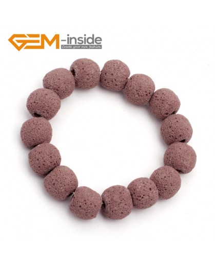 "G9755 Claret Lava Rock Handmade Beads Bracelet Stretch Adjustable Bracelet 7-8.5""  Fashion Jewelry Jewellery Bracelets for women"