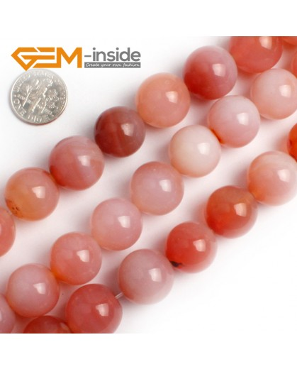 "G0068 16mm Round Gemstone Fresh Color Pink Agate DIY Crafts Making  Loose Beads15"" Natural Stone Beads for Jewelry Making Wholesale"