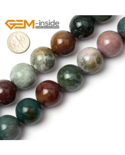 "G0536 20mm Natural Round Indian Agate Beads Jewelry Making Gemstone Loose Beads 15"" GBeads Natural Stone Beads for Jewelry Making Wholesale"