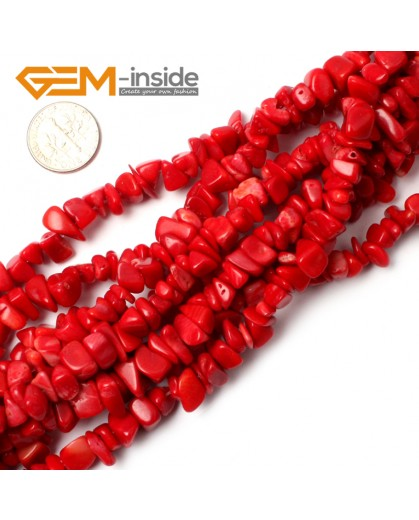 """G0873 Red Coral 5-8mm Multi-Color Chips Gemstone Loose Beads Strand 15""""& 34"""" Free Shipping Natural Stone Beads for Jewelry Making Wholesale"""