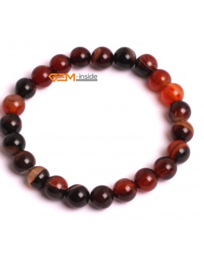 "G10538 8mm Round Dream Agate Healing Elastic Stretch Energy Bracelet 7"" Fashion Jewelry Bracelets for Women"