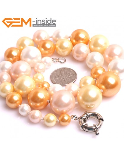 "G10857 8-16mm Muti-Color Pearl Shell Stone Princess Necklaces Fashion Jewelry 18.5"" Fashion Jewelry Jewellery Necklace for Women"