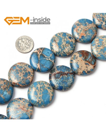 "G1318 25mm Coin Gemstone Crzay Lace Agate Beads Strand 15""Free Shipping Natural Stone Beads for Jewelry Making Wholesale"