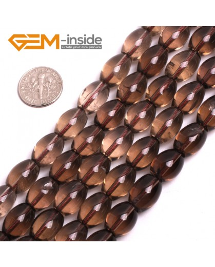 "G15052 10x14mm Durm Gemstone Smoky Quartz Stone Beads Strand 15""Jewelry Making Beads Natural Stone Beads for Jewelry Making Wholesale"