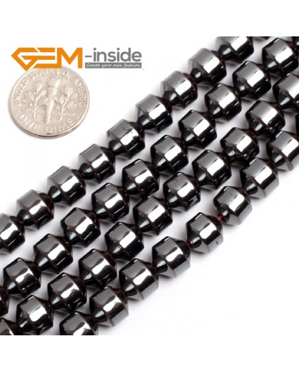 """G15129 8x9mm Pointed Many Kinds Of Black Hematite Gemstone Jewelry Making Stone Loose Beads 15"""" Natural Stone Beads for Jewelry Making Wholesale`"""