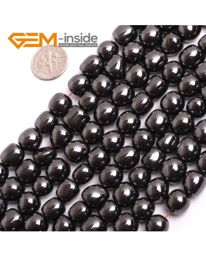 "G15133 10mm Freeform Many Kinds Of Black Magnetic Hematite Gemstone Jewelry Making Loose Beads 15"" Natural Stone Beads for Jewelry Making Wholesale`"