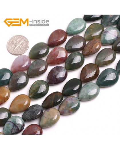 """G15167 Indian Agate 13x18mm Drip Gemstone DIY Jewelry Crafts Making Stone Loose Beads Strand 15"""" Natural Stone Beads for Jewelry Making Wholesale`"""