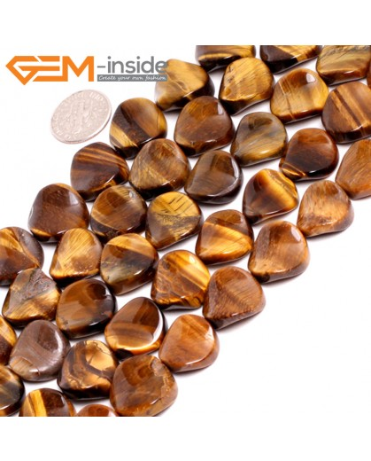 "G15242 16mm Coin Twisted  Yellow Tiger Eye  Loose Gemstone Beads Strand 15 "" Natural Stone Beads for Jewelry Making Wholesale"