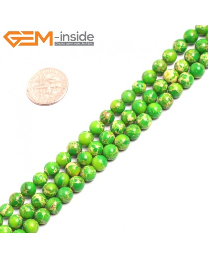 "G15302 6mm Round Green Sea Sediment Jasper Beads Dyed Color 15"" Beads for Jewelry Making Wholesale"