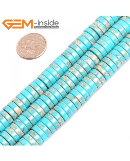 """G15441 4x10mm Column Blue Sea Sediment Jasper Beads Dyed Color 15 """" Beads for Jewelry Making Wholesale"""