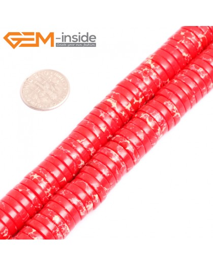 "G15454 4x12mm Column Red Sea Sediment Jasper Beads Dyed Color15 ""  Beads for Jewelry Making Wholesale"