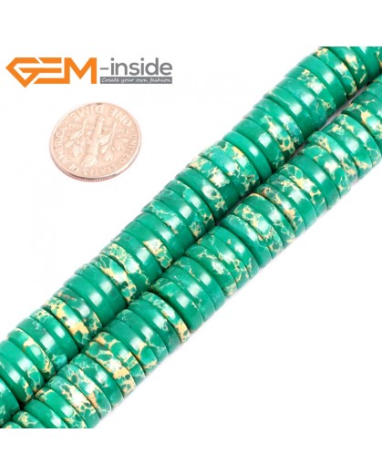 "G15457 4x12mm Column Dark Green Sea Sediment Jasper Beads Dyed Color 15 "" Beads for Jewelry Making Wholesale"