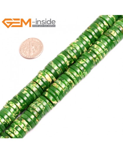 "G15458 4x12mm Column Grass Green Sea Sediment Jasper Beads Dyed  Color 15 ""  Beads for Jewelry Making Wholesale"