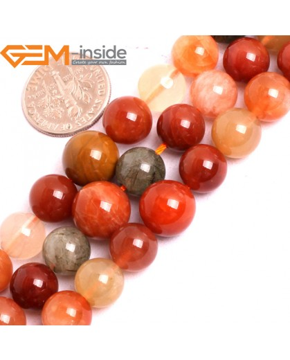 "G15836 6-10mm Graduated Round  Natural Mixed Quartz Strand 15"" Natural Stone Beads for Jewelry Making Wholesale"