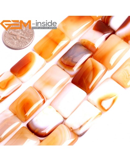 "G15841 13x18mm Rectangle Natural Persian Striped Botswana Agate Strand 15"" Natural Stone Beads for Jewelry Making Wholesale"