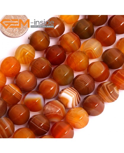 "G15846 12mm Lantern Faceted Natural Persian Striped Botswana Agate Strand 15"" Natural Stone Beads for Jewelry Making Wholesale"