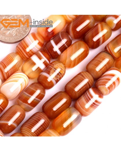 """G15891 8x12mm Column Natural Persian Botswana Agate Beads Strand 15"""" Natural Stone Beads for Jewelry Making Wholesale"""