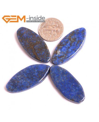G16039 14x32mm Marquise Natural Blue Lapis lazuli  Gemstone Loose Beads 4 Pcs  Natural Stone Beads for Jewelry Making Wholesale