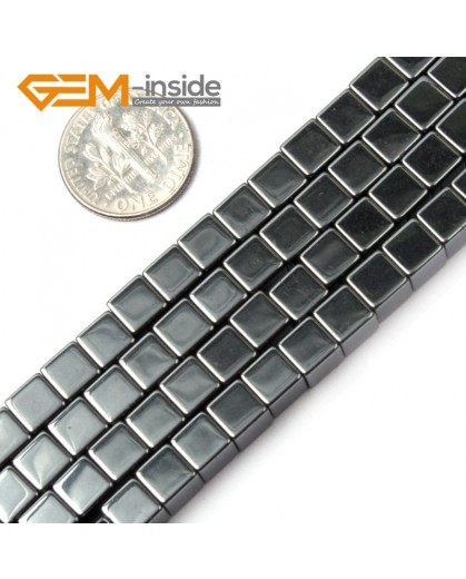 "G1705 6mm Cubic Shape Black Hematite Stone Beads Strand 15""Jewelry Making Gemstone Beads Natural Stone Beads for Jewelry Making Wholesale"