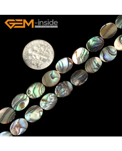 "G2029 8X10mm Oval Natural Abalone Shell Gemstone Loose Beads Strand 15"" Jewelery Making Beads Natural Stone Beads for Jewelry Making Wholesale"