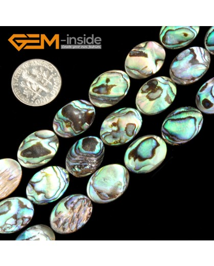 "G2031 12X16mm Oval Natural Abalone Shell Gemstone Loose Beads Strand 15"" Jewelery Making Beads Natural Stone Beads for Jewelry Making Wholesale"