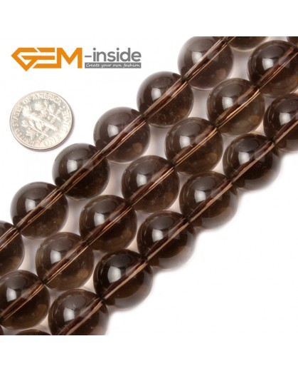 """G2035 16mm Natural Round Gemstone Smoky Quartz Beads Jewelry Making Stone Loose Beads 15"""" Natural Stone Beads for Jewelry Making Wholesale`"""