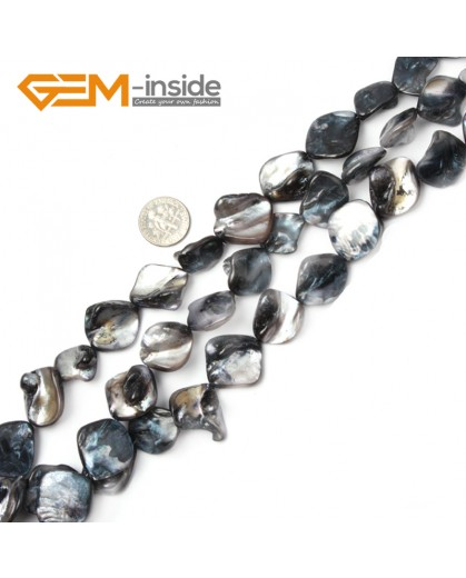 "G2390 Black Free Shipping Freeform Sea Shell Loose Beads strand 15""Jewelery Making 15x20mm Natural Stone Beads for Jewelry Making Wholesale"