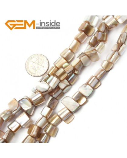 "G2398 white 8mm-9mm Freefrom Gemstone Shell Loose Beads Strand 15"" Jewelery Making Beads Natural Stone Beads for Jewelry Making Wholesale"