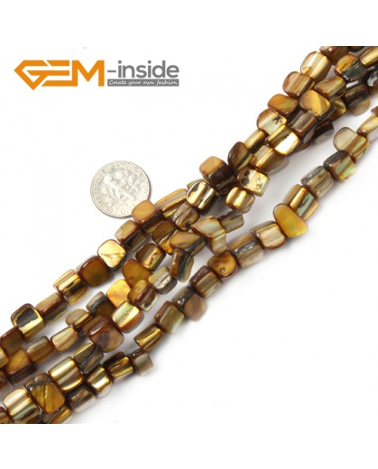 """G2403 brown 8mm-9mm Freefrom Gemstone Shell Loose Beads Strand 15"""" Jewelery Making Beads Natural Stone Beads for Jewelry Making Wholesale"""