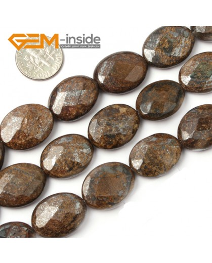 """G2623 15x20mm Oval Faceted Bronzite Gemstone Loose Beads Strand 15"""" Jewelery Making Beads Natural Stone Beads for Jewelry Making Wholesale"""