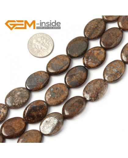 """G2627 13x18mm Oval Bronzite Gemstone Loose Beads Strand 15"""" Jewelery Making Loose Beads Gbeads Natural Stone Beads for Jewelry Making Wholesale"""