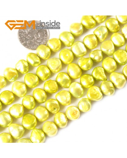 "G3090 gray 7-8mm Freeform Cultured Pearl Gemstone Loose Beads Strand 15"" Natural Stone Beads for Jewelry Making Wholesale"