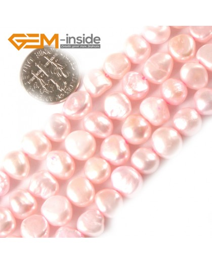 "G3105 light pink 7-8mm Freeform Cultured Pearl Gemstone Loose Beads Strand 15"" Natural Stone Beads for Jewelry Making Wholesale"