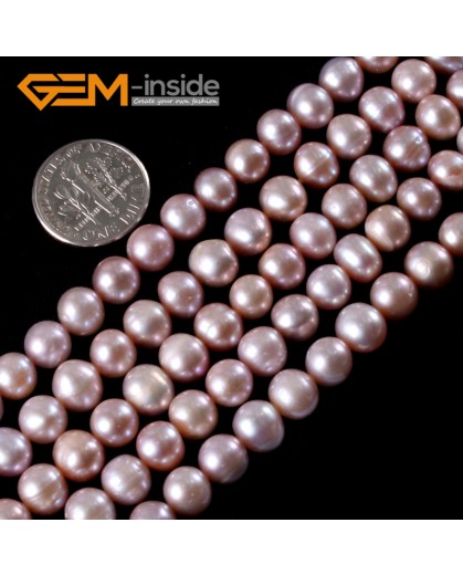 """G3210 purple 7-8mm Pretty Genuine Cultured Pearl Gemstone Jewelry Making Loose Beads 15"""" Natural Stone Beads for Jewelry Making Wholesale"""