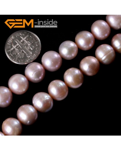 """G3216 PURPLE 10-11mm Natural Round Freshwater Pearl Beads Jewelry Making Gemstone Beads 15"""" Natural Stone Beads for Jewelry Making Wholesale"""