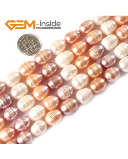 """G3237 Mixed Color 10-11x12-13mm Freeform Freshwater Pearl Stone Beads Strand 15""""Necklace Making Natural Stone Beads for Jewelry Making Wholesale"""