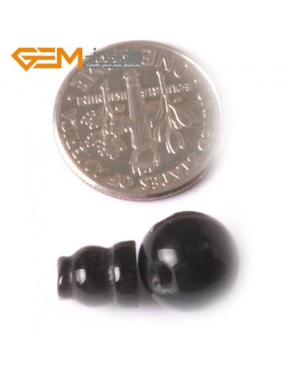 G3759 Black Agate/10mm Stabilized Natural Gemstone TIBET GURU 3 Holes Round And Taper Bead Set Jewelry Natural Stone Beads for Jewelry Making Wholesale