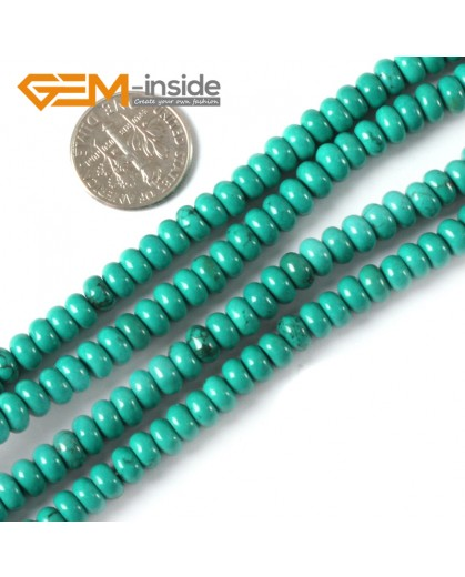 """G4079 3x12mm Rondelle Gemstone Natural Turquoise Loose Beads Strand 15"""" Jewelery Making Beads Natural Stone Beads for Jewelry Making Wholesale"""