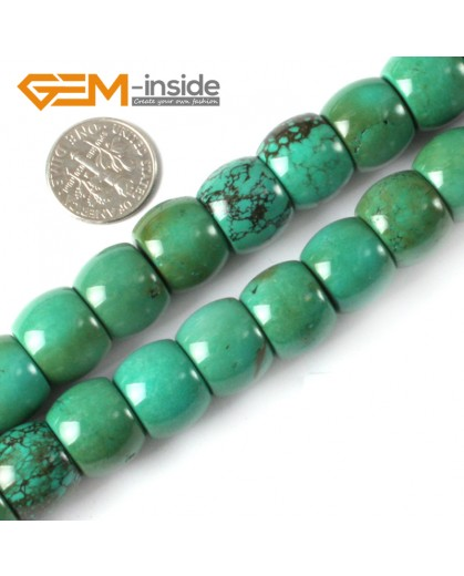 """G4097 12x14mm Natural Rondelle Gemstone Old Turquoise Jewelry Making Loose Beads strand 15"""" Natural Stone Beads for Jewelry Making Wholesale"""