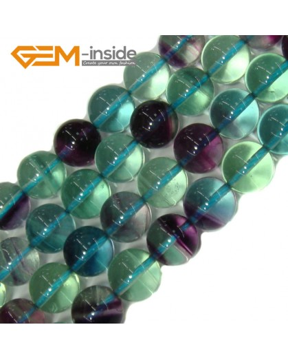 """G4155 10mm Round Gemstone Natural Fluorite Beads Jewelry Making Stone Beads Strand 15"""" Natural Stone Beads for Jewelry Making Wholesale"""