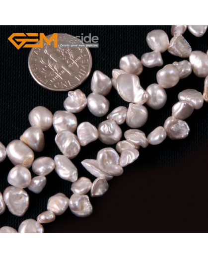 """G4170 Light Gray 6x8mm Freeform Gemstone Freshwater Pearl Jewelry Making Beads Strand 15"""" Natural Stone Beads for Jewelry Making Wholesale"""
