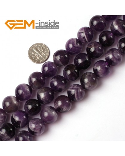 """G5203 14mm Natural Round Dream Lace Amethyst Beads Strand 15""""Jewelry Making Gemstone Beads Natural Stone Beads for Jewelry Making Wholesale`"""
