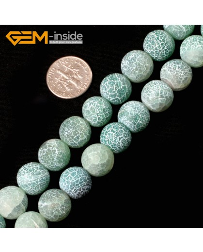 "G5421  Green 12mm Round Frost Agate Gemstone Jewelry Making Loose Beads15""  Pick Size & Color Natural Stone Beads for Jewelry Making Wholesale`"