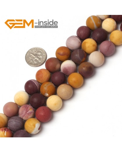 "G5942 12mm Natural Round Frost Matte Mookaite Jasper Beads Strand 15"" 6mm 8mm 10mm 12mm Natural Stone Beads for Jewelry Making Wholesale`"