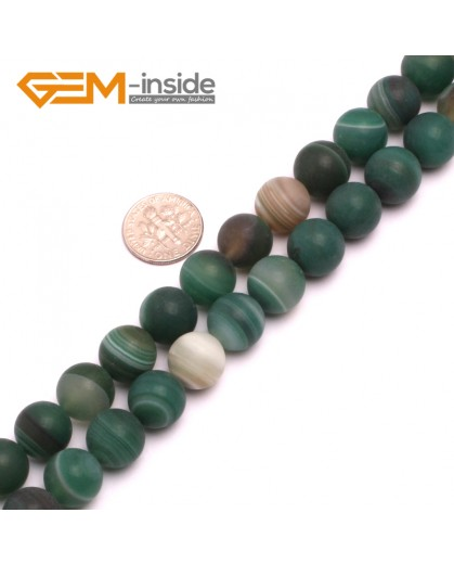"G8232 Green 12mm Round Gemstone Frost Matte Agate DIY Jewelry Making Beads 15""6-14mm Pick Colors Natural Stone Beads for Jewelry Making Wholesale"