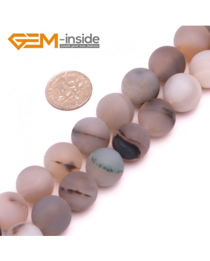 """G8241 14mm Round Frost Gemstone Botswana Agate DIY Jewelry Crafts Making Beads15"""" Natural Stone Beads for Jewelry Making Wholesale"""
